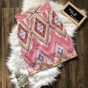 Antonio Melani Bright Mulicolor Pattern Skirt 4